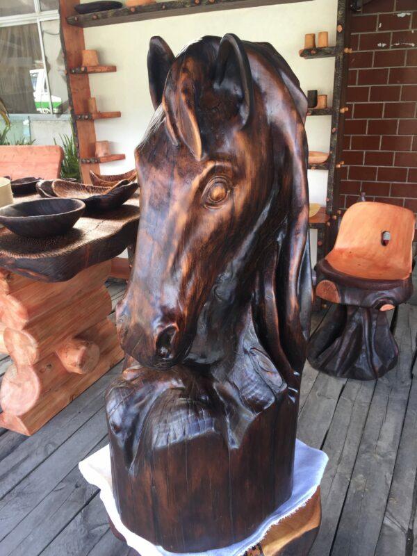 cabeza de caballo madera
